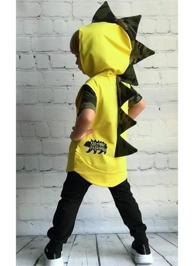Riccotarz Erkek Çocuk Dino Kamuflaj Cepkenli Eşofman Takım Renkli